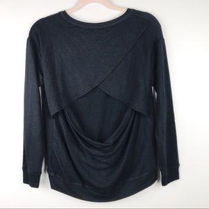 Beyond Yoga Open Back Sweatshirt Black Size M